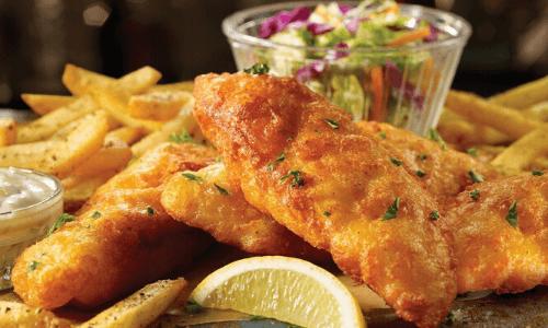 TGI Fridays Fish and Chips
