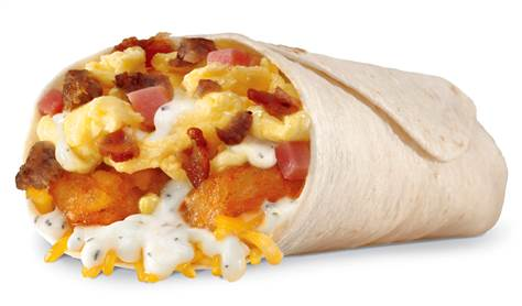 Hardee's Loaded Breakfast Burrito