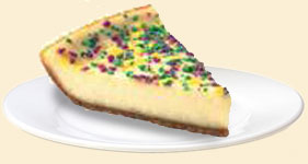 Popeyes Mardi Gras Cheesecake