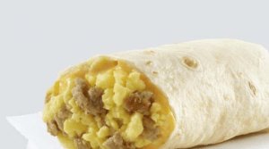 Wendy's Sausage Egg and Cheese Burrito