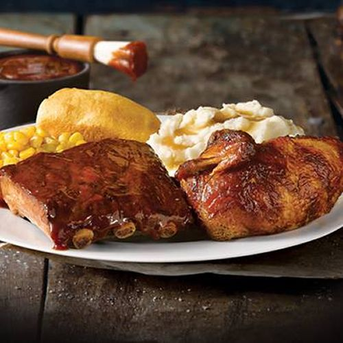 Boston Market Ribs and Rotisserie Chicken