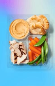 Grilled-Chicken Hummus Protein Box