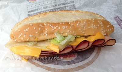 Burger King Ham and Cheese