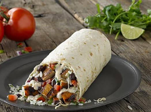 Qdoba Chicken Queso Burrito