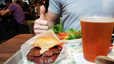 Shake Shack PB & Bacon Burger