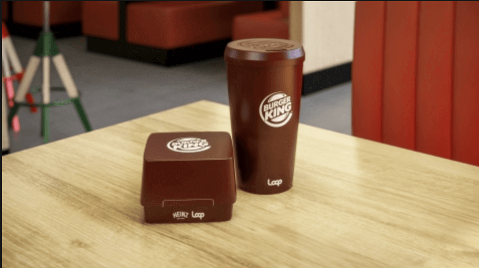Burger King Reusable Sandwich and Drink Packaging