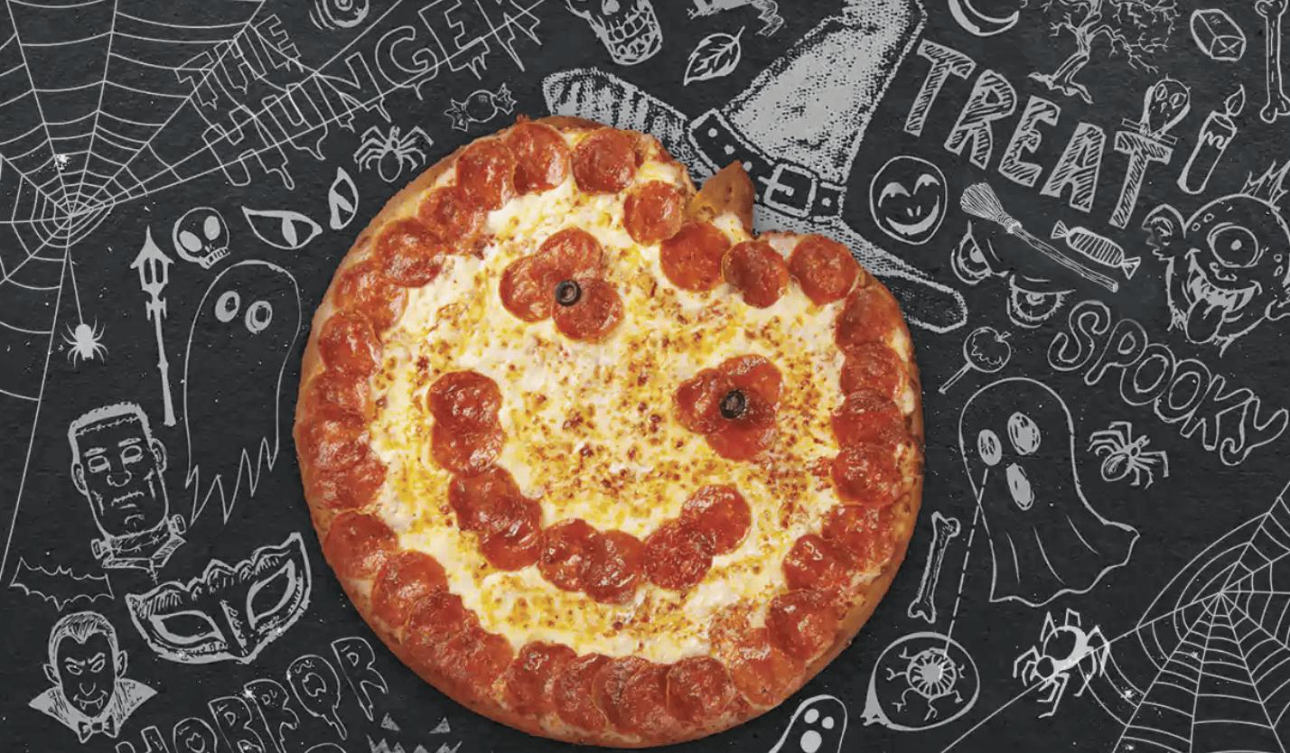 Papa John's Jack-o-lantern pizza