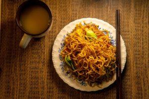 noodles at China Dragon