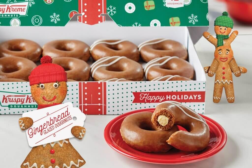 Krispy Kreme's Gingerbread Donut