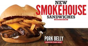 Arby's pork belly sandwich