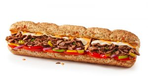 subway steak and cheese image